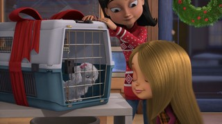 A still from the animated movie 'All I Want for Christmas Is You