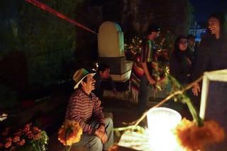Ein Mann aus Oaxaca genießt den Feiertag