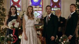 A festive wedding scene