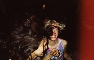two girls dancing by photographer chad moore