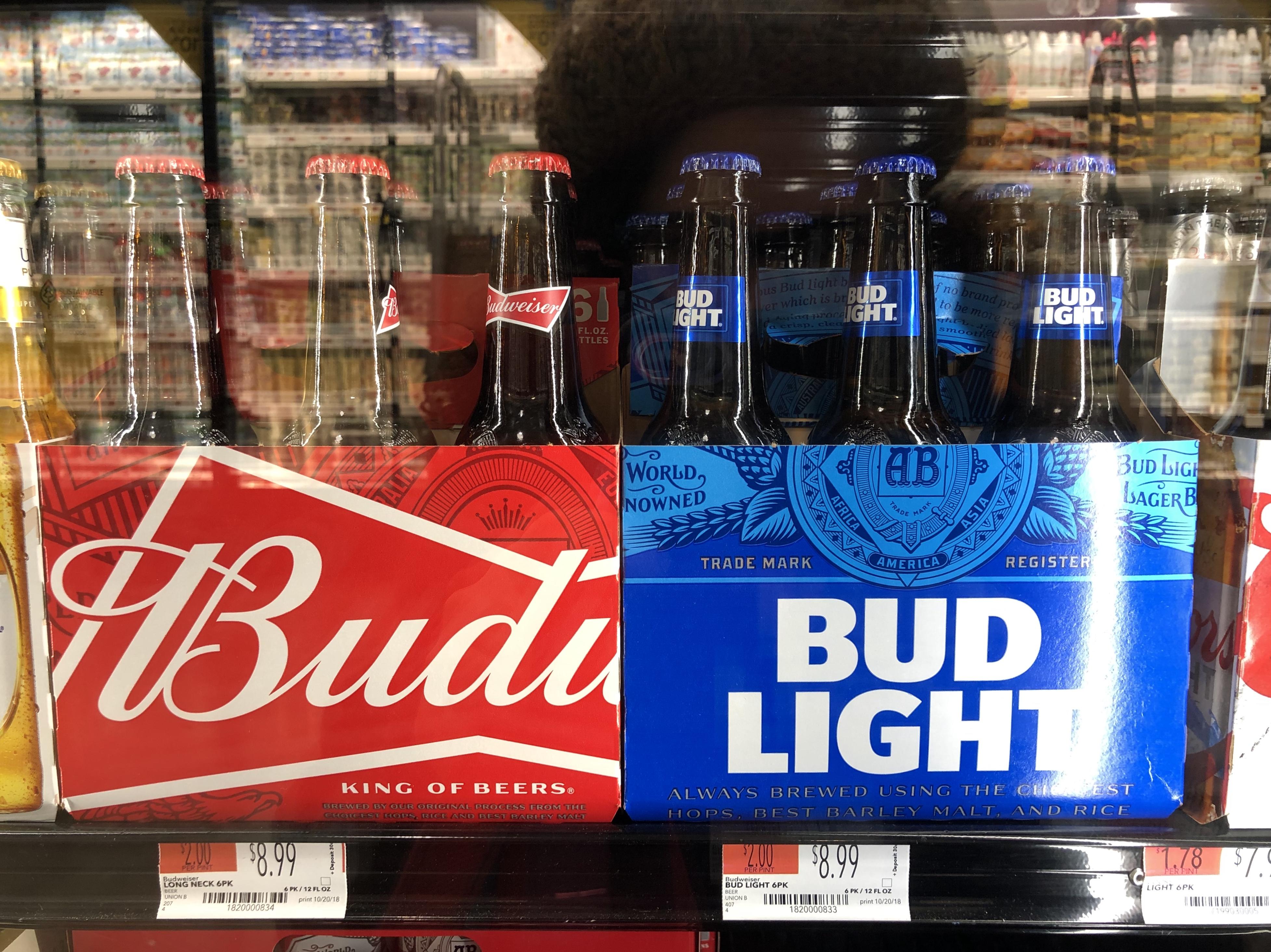 Whole Foods Bud Light bottles.