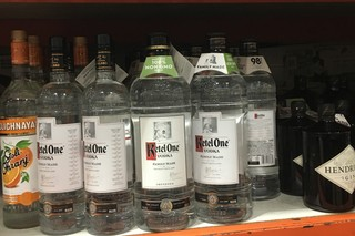 Bottles of Ketel One at Costco