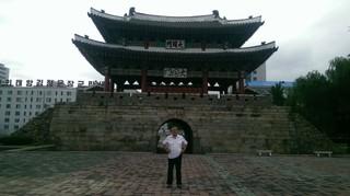 Miki in Pyongyang.
