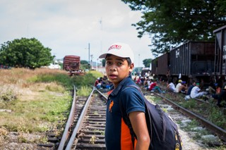 """""""I left my mom and six siblings back home,"""" said Mario Cartagena, a 16-year-old from Lempira Honduras. """"My dream is to be the hero that helps them get ahead."""""""