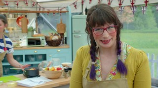 Contestant Kim Joy on the Great British Bake off