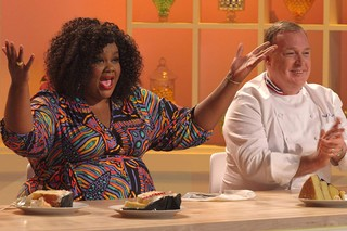 Nicole Byer and Jacques Torres, hosts of 'Nailed It!'