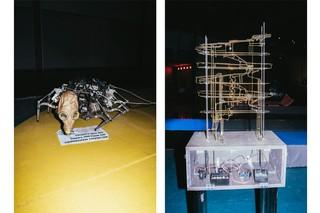 Kunstinstallationen mit Geräten auf dem 35C3 in Leipzig