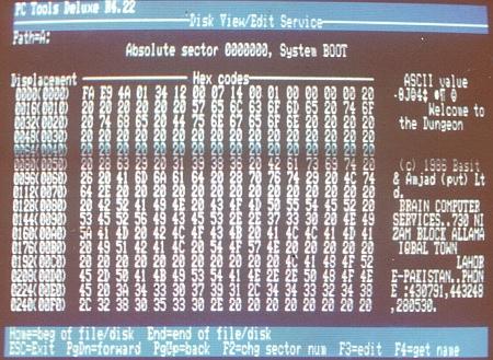 historischer DOS-Virus