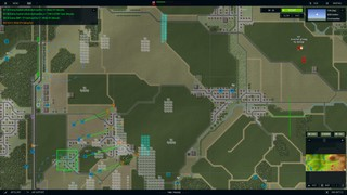A battle map depicting a Soviet advance across farmland