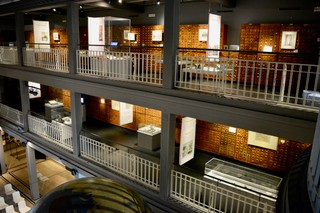 A view of the Mundaneum's atrium