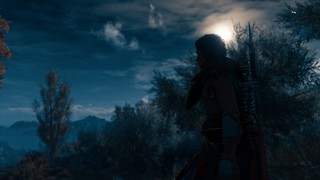 A moonlit night in Assassin's Creed