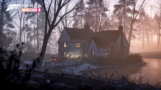 A quiet cottage by a lake in Forza Horizon 4