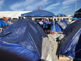 The migrant camp