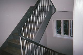 En trappe i en opgang