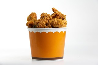 Popeyes fried chicken bucket
