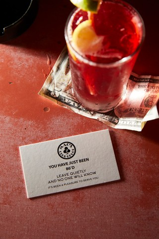 Drink card at Mac's Club Deuce