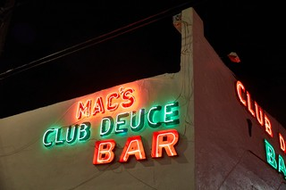 Exterior sign at Mac's Club Deuce