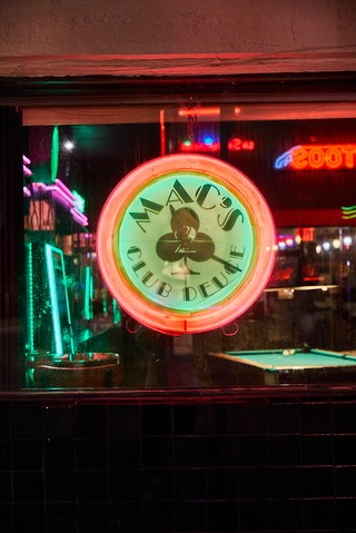 Clock at Mac's Club Deuce