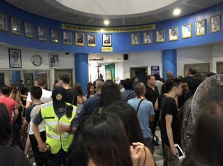Clubbers and staff were herded into a police station without explanation. Photo sourced by VICE