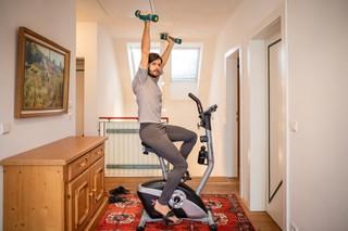 Michael Buchinger bei seinem Workout