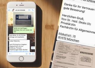 WhatsApp Krankschreibung Chat