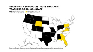 19 states now have programs to allow school employees to carry guns
