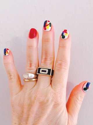 molly ringwald nail art manicure