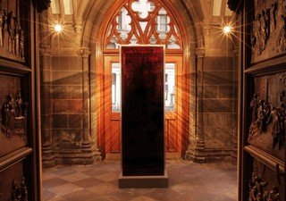 Blood Mirror is now on the display of the south vestibule of Trinity Church. Photo by Ian Smith
