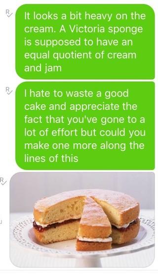 sponge cake email