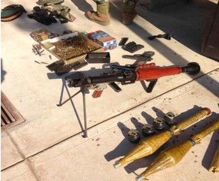 Weapons confiscated from the safe house.