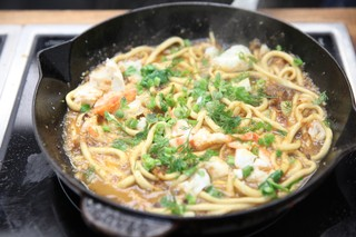 pici with king crab and tamarind xo sauce