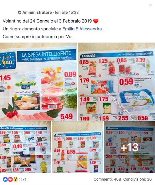 Volantini supermercati: Gruppi recensione supermercati su Facebook