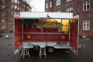 Smilet kebab ved Amagerbro station