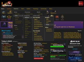 Datensätze von World of Warcraft auf wowhead.com