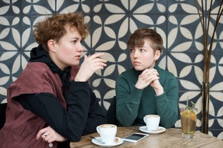 Sascha und Lou im Gespräch