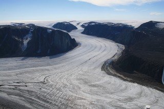 View of Baffin Island ice cover.