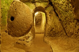 Inside an underground city in Cappadocia