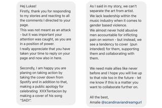 Amalie Haves svar til Lukas Graham