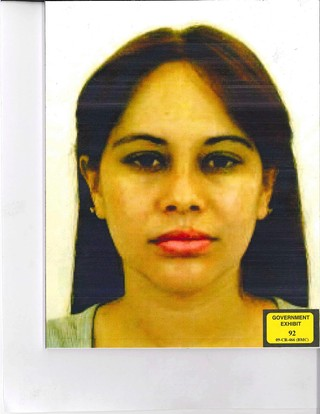 Lucero Guadalupe Sanchez Lopez — Chapo's mistress. (Photo: U.S. Attorneys Office for the Eastern District of New York)