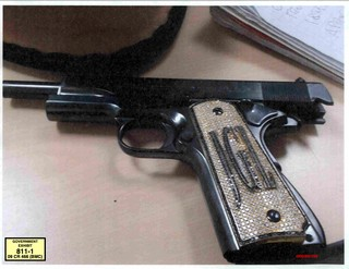 Chapo's person handgun. (Photo: U.S. Attorneys Office for the Eastern District of New York)