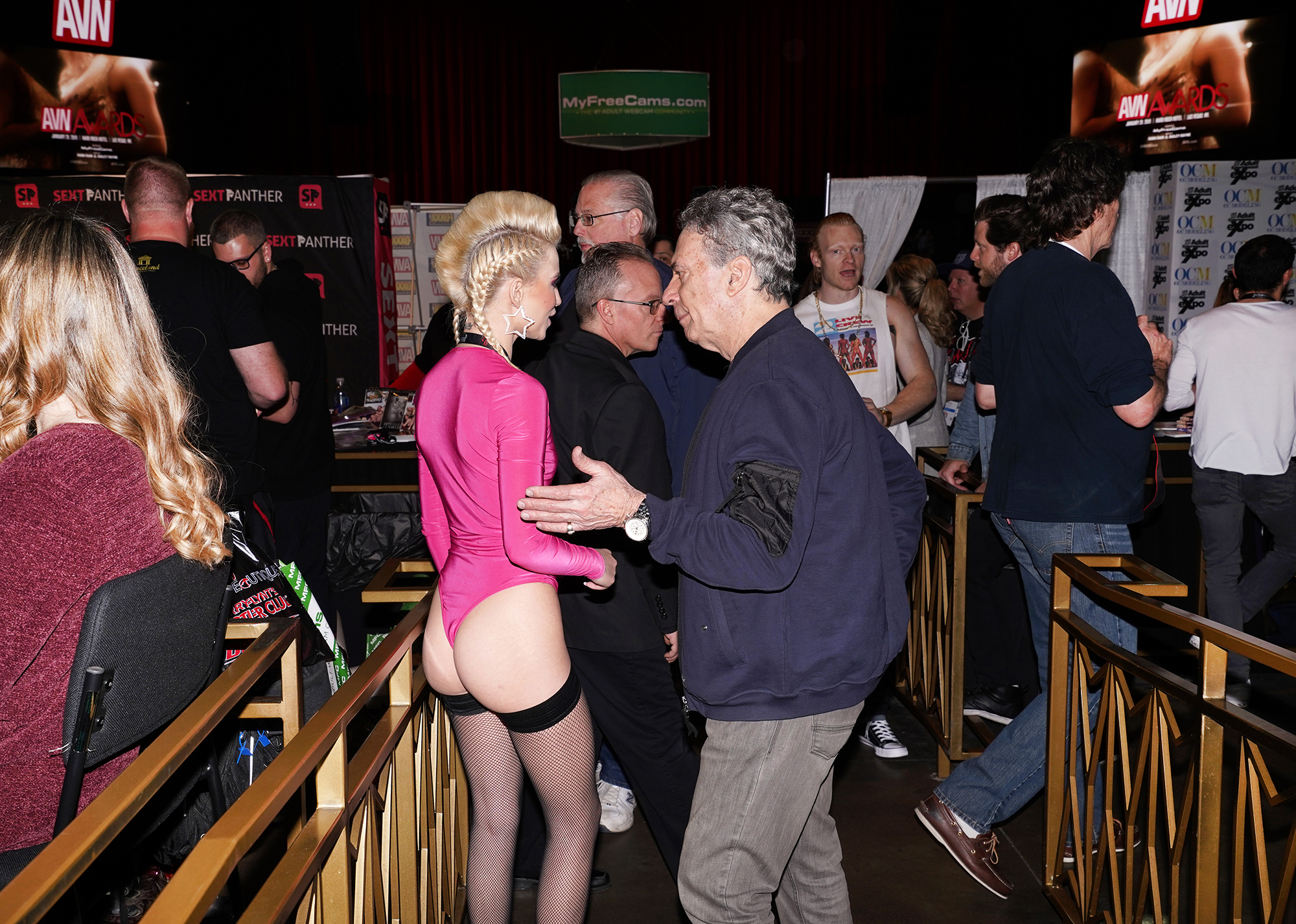 A man talking to a porn performer