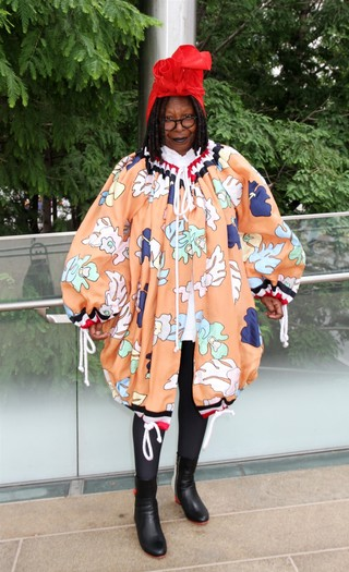 Whoopi wearing Thom Browne at the designer's 2017 Couture Council lunch.