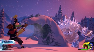 Kingdom Hearts 3 Frozen combat