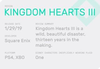 Kingdom Hearts 3 review block