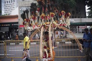 spike kavadi on the streets of Singapore