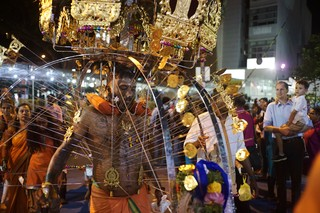 kavadi bearer at the end of the procession