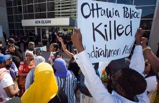 Ottawa protests killing