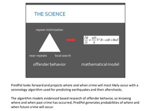 Screenshot from a slide presentation from PredPol.