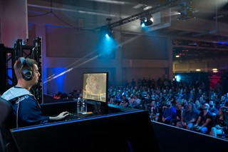 WCS Austin, where MaNa is seen playing before a large crowd.