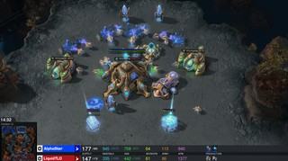 A screenshot of AlphaStar's game